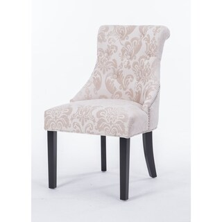 HD Couture Madison Cream Damask Fan Rollback Chair
