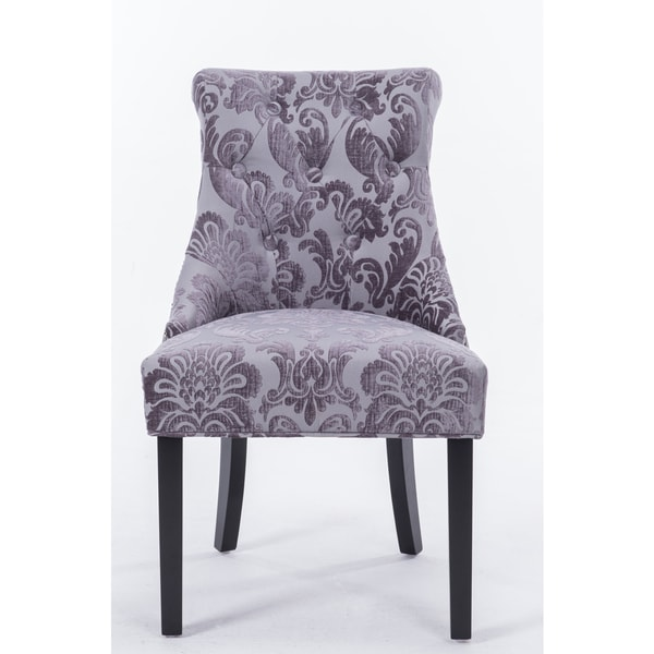 Madison Rollback Grey Fan Damask Dining Chair 1 Pack