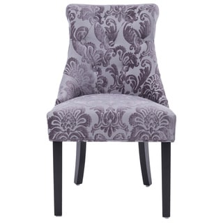 Madison Rollback Grey Fan Damask Dining Chair 1-pack