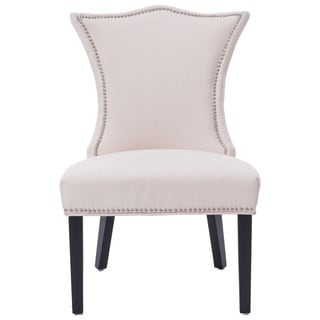 Linda Ivory Stallion Linen Tufted-back Chair (1 Chair)