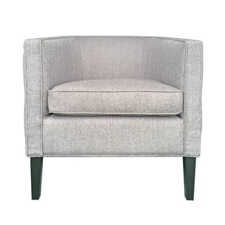 Tufted Grey Stallion Linen Lulu Club Chair