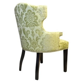 Chartruese Green Damask Brittania Arm Chair