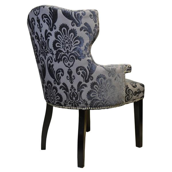 Shop Brittania Chair Brown Gray Damask Armchair
