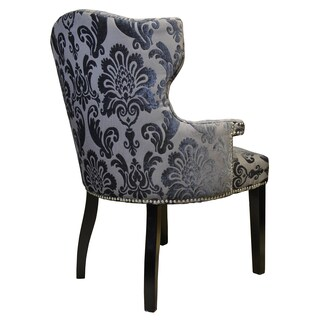 Brittania Chair Brown Gray Damask Armchair