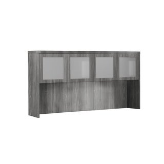 Mayline Aberdeen Series 72-inch Computer Desk Hutch With Glass Doors