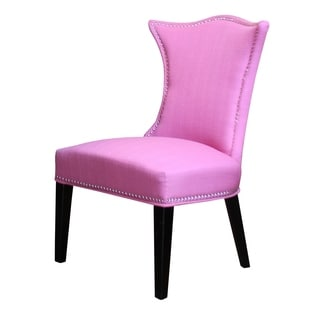 HD Couture Hot Pink Linen Chair (Set of 2)