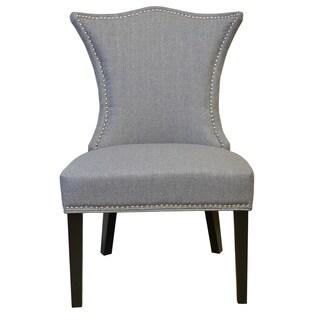 Stallion 'Linda' Tufted-back Grey Linen Chair