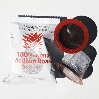 Pooki's Mahi's Kona Coffee Pods for 1.0 and 2.0 Single Serve Brewers (Set of 24)