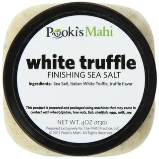 Pooki's Mahi White Truffle Salt 4-ounce Jar