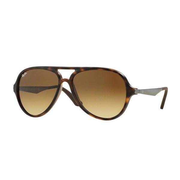 5054e67695 Shop Ray-Ban Men s RB4235 Tortoise Plastic Pilot Sunglasses - Free ...