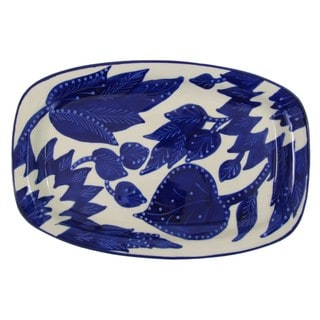 Le Souk Ceramique Jinane Rectangular Stoneware Platter (Tunisia)
