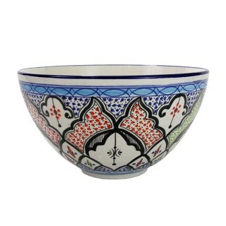 Le Souk Ceramique Tibarine Deep Stoneware Salad Bowl (Tunisia)