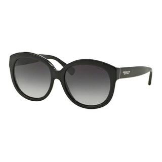 Coach HC8159F L561 500211 Black Womens Plastic Round Sunglasses