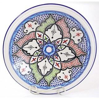 Le Souk Ceramique Tibarine Large Stoneware Serving Bowl (Tunisia)