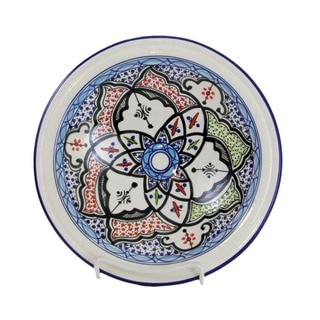 Le Souk Ceramique Small Tibarine Stoneware Serving Bowl (Tunisia)