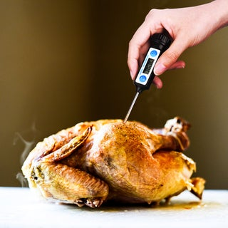 Instant Read Black Metal Digital Cooking Thermometer