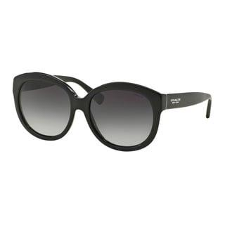 Coach HC8159 L144 500211 Black Womens Plastic Round Sunglasses