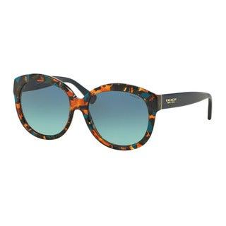 Coach HC8159F L561 53374S Teal Confetti/Teal Womens Plastic Round Sunglasses