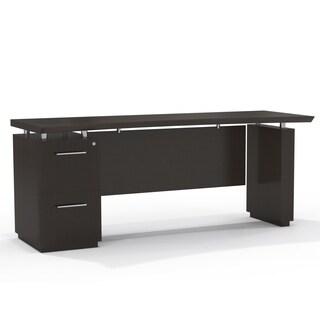 Mayline Sterling Series 72-inch Single-pedestal Credenza Pedestal Executive Desk