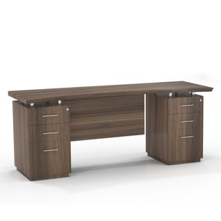 Mayline Sterling Series 72-inch Wide Double-pedestal Credenza Executive Desk