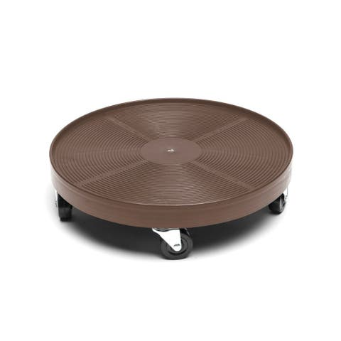 Espresso 16-inch Plant Dolly without Hole