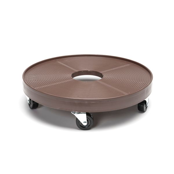 Plastic 16-inch Plant Dolly with Hole - Espresso. Opens flyout.