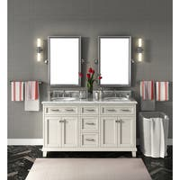 Carolina White 60-inch Marble Top Double Bathroom Vanity