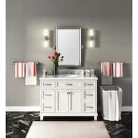 Carolina White 48-Inch Marble Top Single Bathroom Vanity