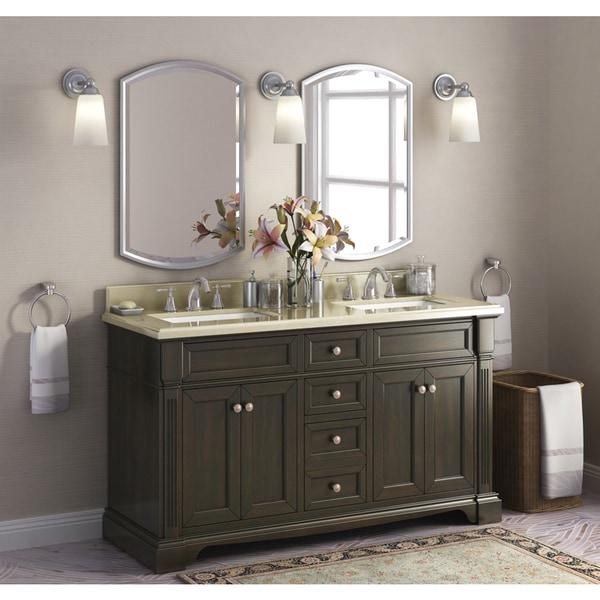 Bryon 60 Inch Marble Top Double Bathroom Vanity