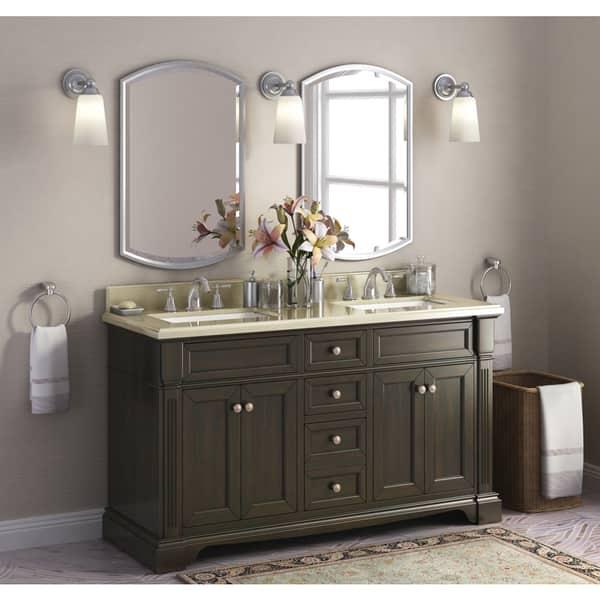 Bryon 60 Inch Marble Top Double Bathroom Vanity Overstock 12356212