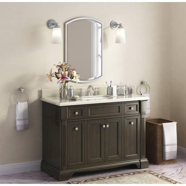Bryon 48 Inch Marble Top Single Bathroom Vanity Overstock 12356213