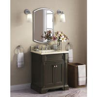 Bryon 28-inch Marble Top Single Bathroom Vanity