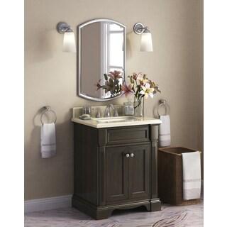 Bryon 28-inch Marble Top Single Bathroom Vanity