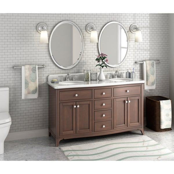 Shop Florence 60-inch Marble Double Sink Vanity - Free ...
