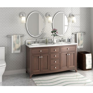Florence 60-inch Marble Double Sink Vanity