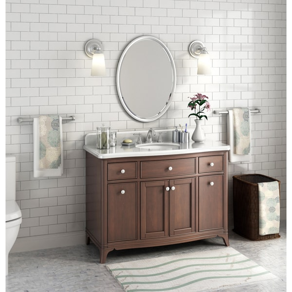 Shop Lanza Florence 48 Inch Marble Single Sink Vanity