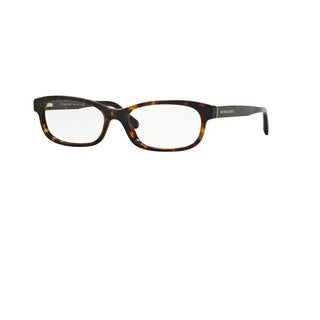 Burberry BE2202F 3002 Drak Havana Plastic Pillow Eyeglasses w/ 54mm Lens