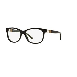Burberry BE2204F 3001 Black Plastic Square Full-rim Eyeglasses with 54mm Lens