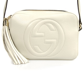 Gucci Soho Small Off White Leather Disco Handbag
