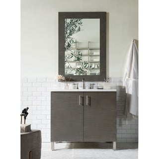 Metropolitan 36-inch Silver Oak Single Bathroom Vanity