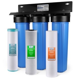 ISpring 3-stage Iron, Manganese Reduction 100,000 Gal. Whole House Water Filter Sediment and Fine Carbon Block