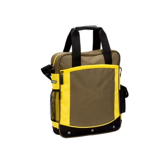 Goodhope Beige Fabric Vertical Sport Briefcase