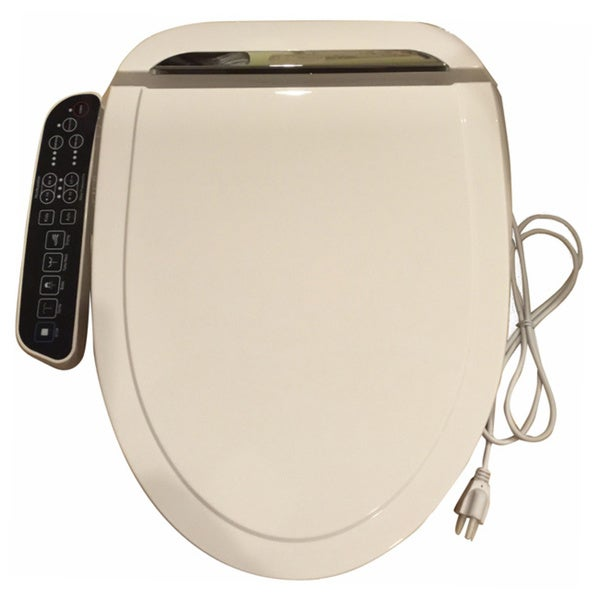 Bidet4me E-260A White Elongated Electric Bidet Seat With Dryer and Deodorizer