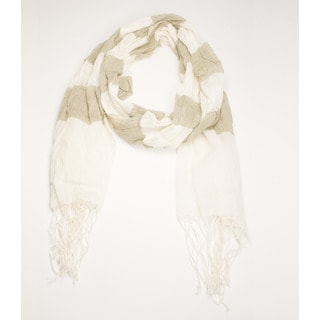 Molly Sage Cotton Scarf (India)