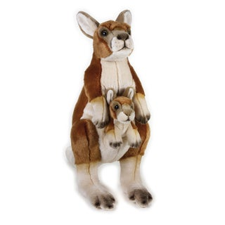 National Geographic Kangaroo with Baby Plush