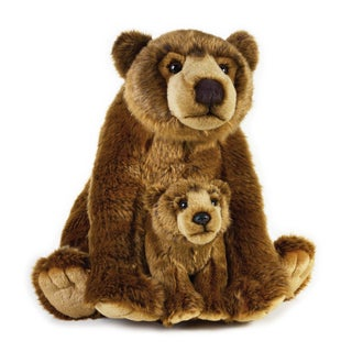 National Geographic Grizzly Bear with Baby Plush