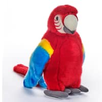 National Geographic Red Tropical Parrot Plush