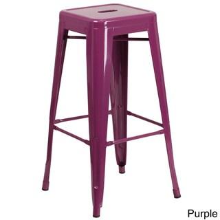 30-inch High Backless Indoor-Outdoor Barstool