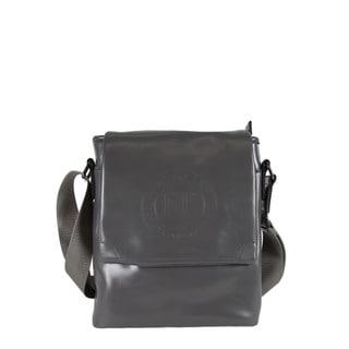 Nicole Lee Mason Grey Faux-leather/Nylon Crossbody Handbag