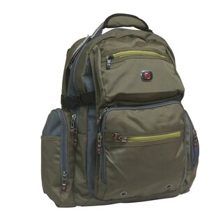 Swiss Gear Breaker Olive Polyester 16-inch Laptop Backpack